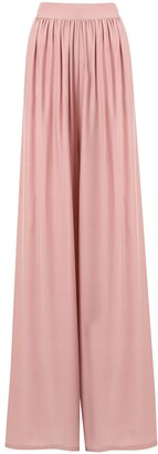 POUR LES FEMMES Pleated Palazzo Trousers