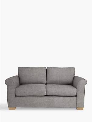 John Lewis & Partners Malone Small 2 Seater Sofa Bed, Stanton French Grey with Pocket Sprung Mattress