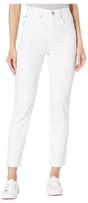 Tribal Five-Pocket High-Rise Slim in White (White) Women's Jeans