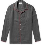 Sleepy Jones - Henry Piped Cotton-flannel Pyjama Shirt