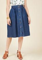 ModCloth Marvelously Midi Denim Skirt in M