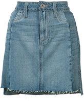 Paige raw hem denim skirt - women - Cotton/Lyocell - 26