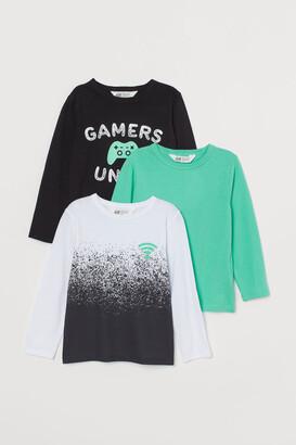 H&M 3-pack Jersey Shirts - Black