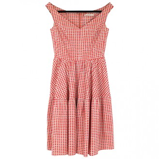 Carven Red Cotton Dress for Women