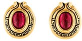 Fendi Glass & Enamel Clip-On Earrings
