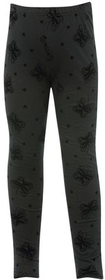 M&Co Butterfly and heart flock leggings (3-12yrs)