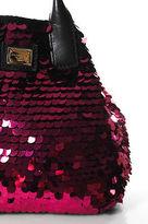 Dolce & Gabbana Pink Leather Crotchet Knit Sequin Shoulder Handbag