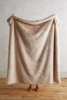 Anthropologie Fireside Faux-Fur Throw Blanket
