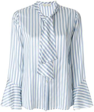 Etro striped pussy-bow shirt