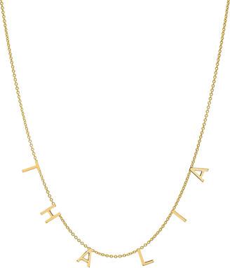 Zoe Lev Jewelry Personalized 14k Gold 6 Mini Initial Necklace