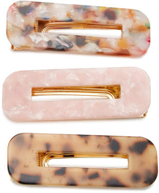 8 Other Reasons Exclusive Set-Of-Three Tortoiseshell Resin Hairclips