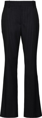 Victoria Beckham High-Waisted Wool Flared Trousers