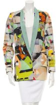 Yigal Azrouel Printed Shawl Collar Blazer