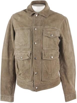 Deus Ex Machina Grey Leather Jacket for Women