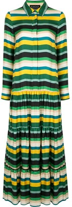 Gianluca Capannolo Stripe Tier Dress