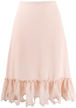 See by Chloe Embellished Hem Skirt