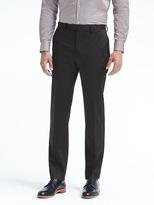 Banana Republic Standard Black Stretch Cotton Suit Trouser