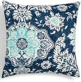 "Last Act! Hallmart Collectibles Blue Floral Medallion-Print 18"" Square Decorative Pillow Bedding"