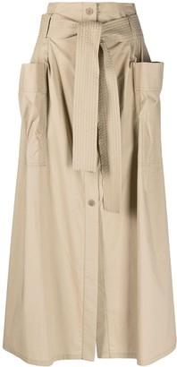P.A.R.O.S.H. Canyon cotton maxi skirt