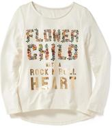 Old Navy Hi-Lo A-Line Graphic Tee for Girls