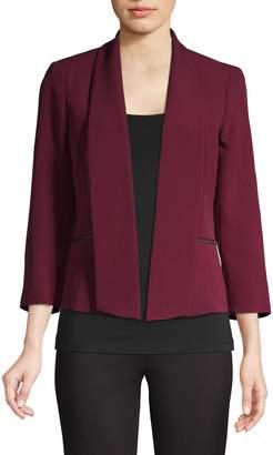 Kasper Suits Crepe Shawl Collar Jacket