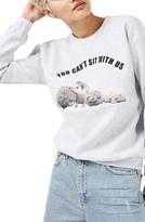 Topshop Women's By Tee & Cake Hedgehog Sweatshirt