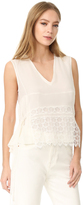 Jenni Kayne Sleeveless Lace Overlay Top