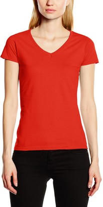 Fruit of the Loom Women's V-neck Valueweight T Shirt