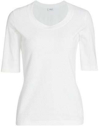 Akris Punto Textured Stretch-Cotton T-Shirt