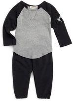 Appaman Baby's Baseball Cotton Tee & Sweatpants Set
