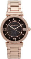 Michael Kors MK3356 Rose Gold-Tone & Black Watch