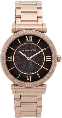 Michael Kors MK3356 Rose Gold-Tone & Black Watch