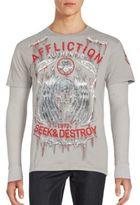 Affliction Graphic Skull Shirt
