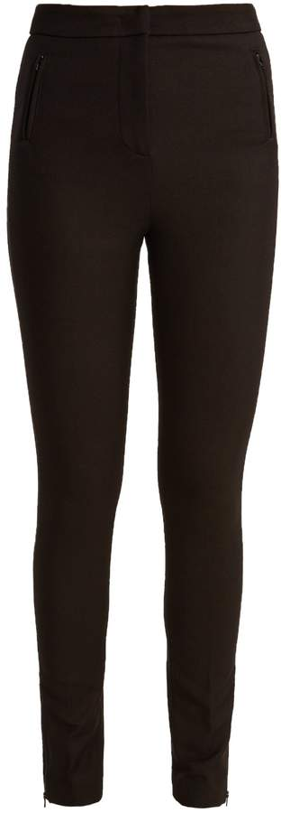 Moncler High-rise stretch-gabardine leggings