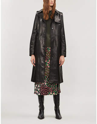 The Kooples Leather trench coat