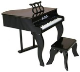 The Well Appointed House Schoenhut 30 Key Fancy Baby Grand Piano in Black for Kids