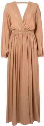 Matteau Open Back crepeon maxi dress