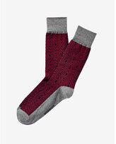 Express geometric dot print dress socks
