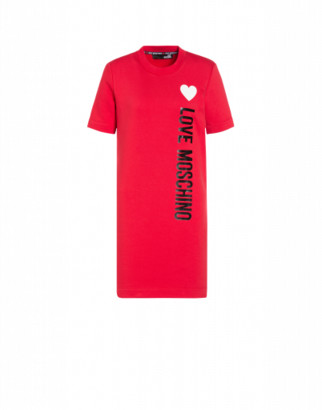 Love Moschino Fleece Dress With Logo Woman Red Size 38 It - (4 Us)