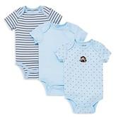 Little Me Boys' Monkey Star Bodysuit, 3 Pack - Baby