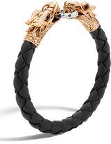 John Hardy Men's Legends Naga Dragon Leather Bracelet