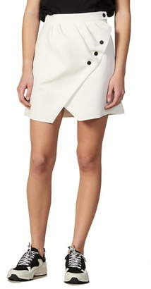 Sandro Zoelle Wrap Miniskirt