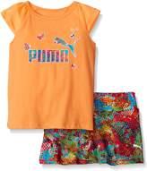 Puma Toddler Girls Short Sleeve Tee and Skort Set