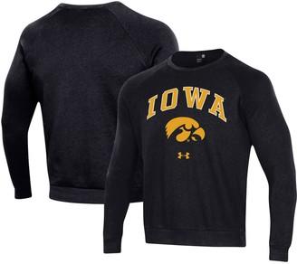 Under Armour Unbranded Men's Black Iowa Hawkeyes Arched Fleece Raglan Sweatshirt