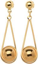 JCPenney FINE JEWELRY 10K Yellow Gold Drop Earrings