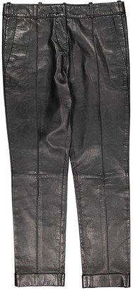 Balmain Black Leather Trousers