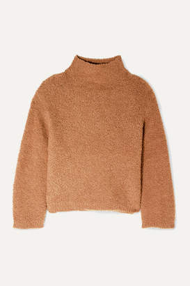 Vince Textured Wool-blend Turtleneck Sweater - Tan