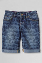Classic Girls Plus Rolled Up Denim Shorts-Dark Wash