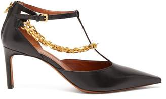 Altuzarra Chandi Chain-strap Leather Pumps - Womens - Black Gold