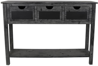 Decor Therapy Rowan 3-Drawer Chalkboard Console Table